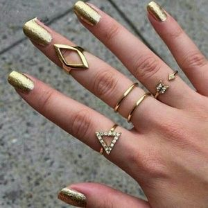 5 gold plated rings